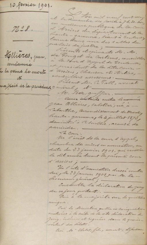 Jean Allières - guillotiné à Toulouse - 1901 - Page 2 Allieres1