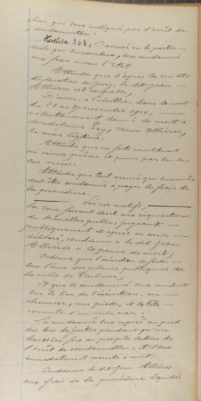 Jean Allières - guillotiné à Toulouse - 1901 - Page 2 Allieres3