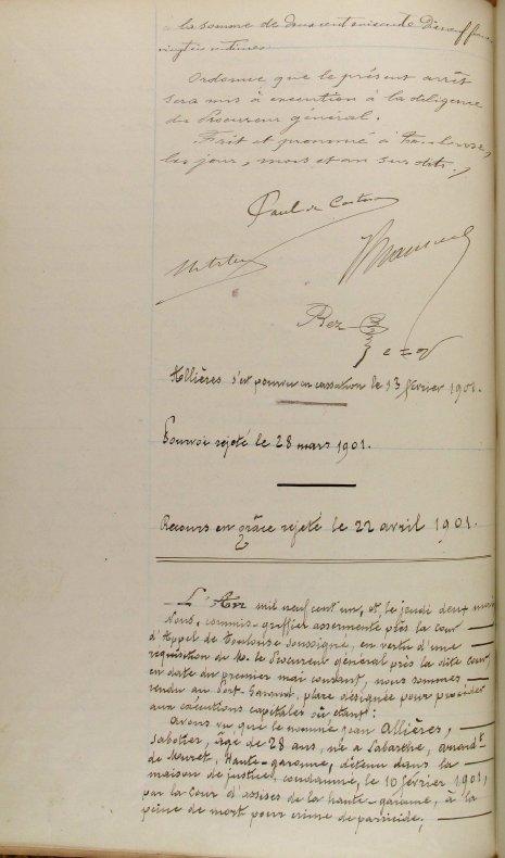 Jean Allières - guillotiné à Toulouse - 1901 - Page 2 Allieres4