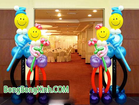 Trụ bong bóng có thể làm cổng chào cho sự kiện cho bé 14006439270922-0511-tru-bong-bong-072-trang-tri-bong-bong