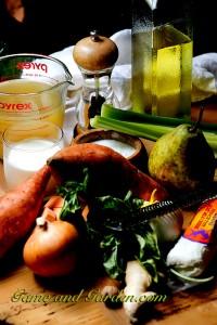 Creamy Sweet Potato Soup Sweet-potato-soup-ingredients-200x300