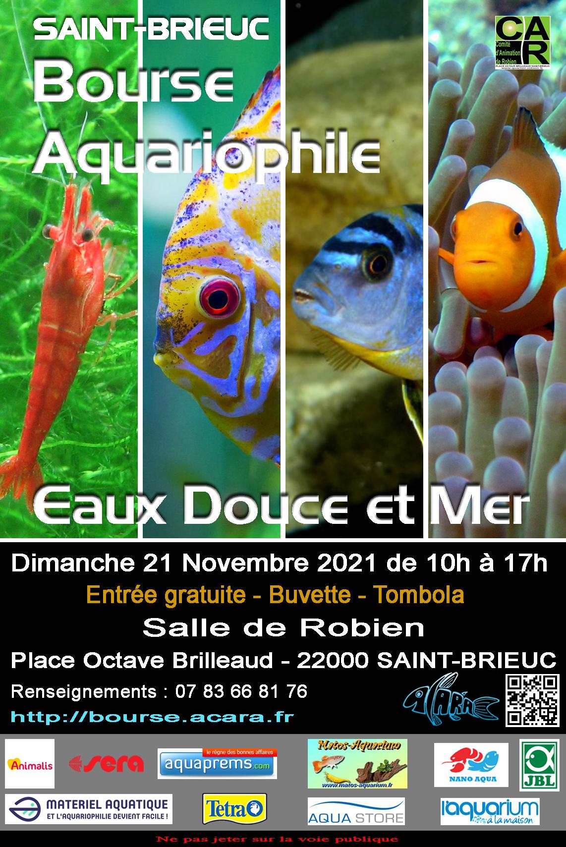 Bourse ACARA St-Brieuc (22) Dimanche 21 Novembre 2021 Bourse_aquariophile_affiche_2021