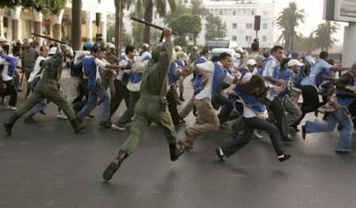 فرق جديدة من القوات المساعدة تجوب شوارع البيضاء Chomeur_maroc