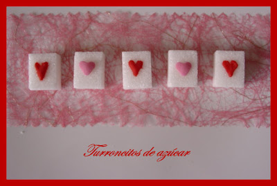 Petits sucres de Saint Valentin Turroncitos