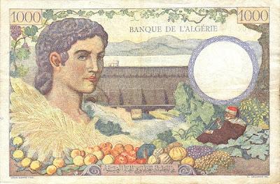 La monnaie (les billets) tunisienne à travers le temps TunisiaP20a-1000Francs-1941-donatedowl_b