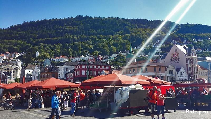 Роскошные пейзажи Норвегии - Страница 6 Fish-market-bergen