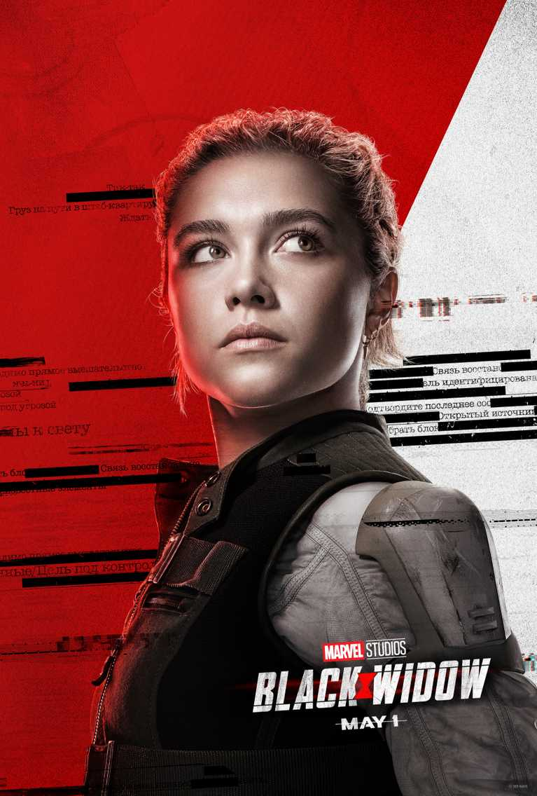 2020- Black Widow Black-widow-affiches-personnages-florence-pugh