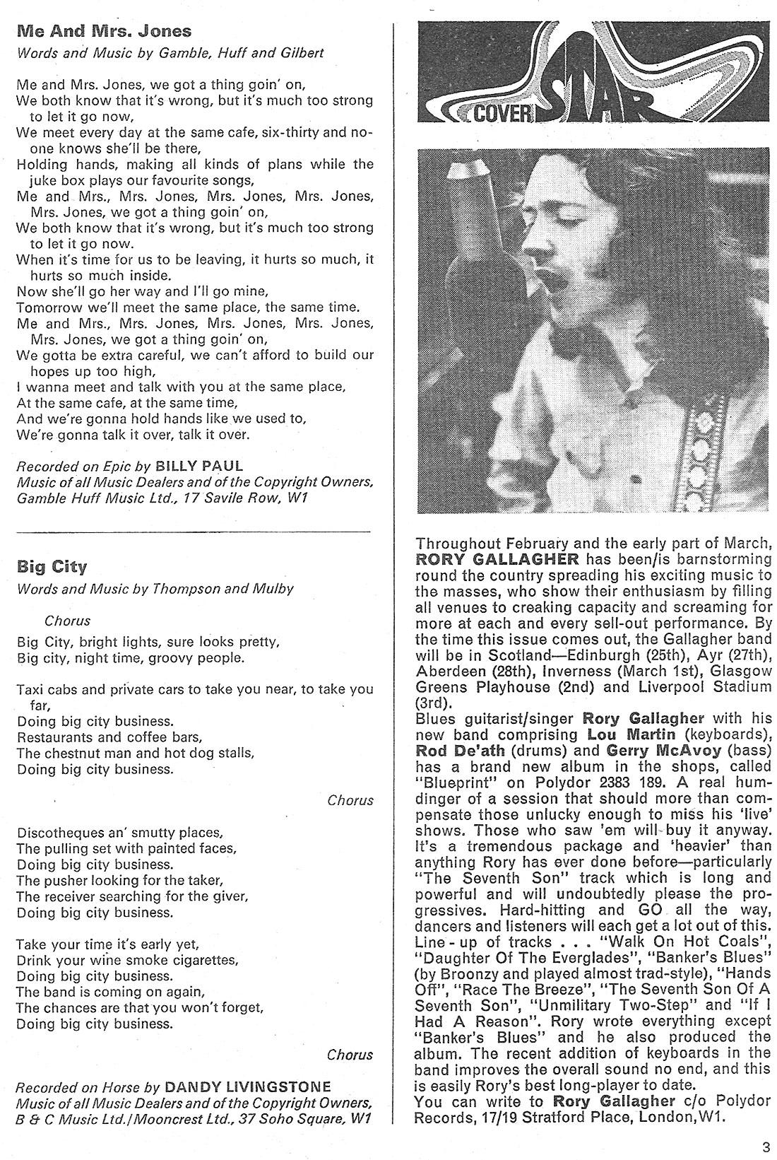 Rory dans les revues et les mags - Page 18 Words_page3