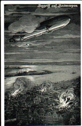 Ansichtskarten der Luftschiffe Antwerpen