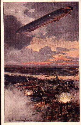 Ansichtskarten der Luftschiffe Antwerpen1