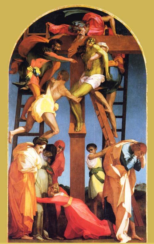 La deposizione dalla croce. Rosso Fiorentino e altri artisti. 1_rosso_fiorentino_deposizione_dalla_croce