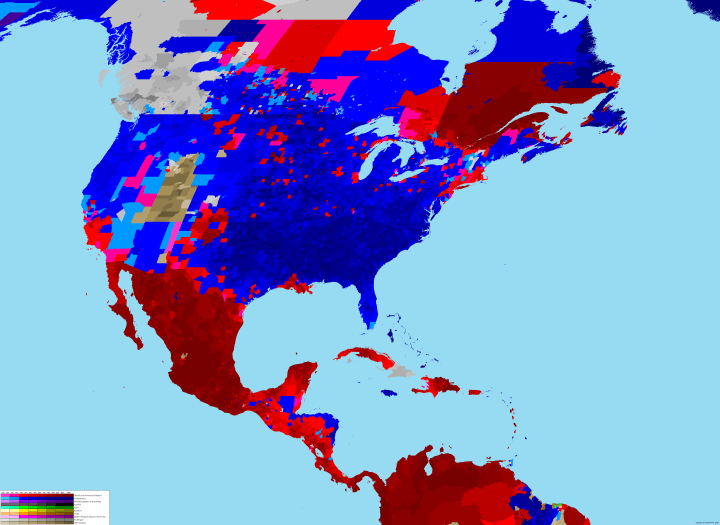 Interesting maps and infographics - Page 2 North-america-relgion-map