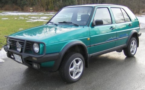 Aujourd'hui, j'ai vu .... topic officiel inside ! - Page 4 1991_Volkswagen_VW_Golf_Country_Syncro_4x4_For_Sale_Front_1