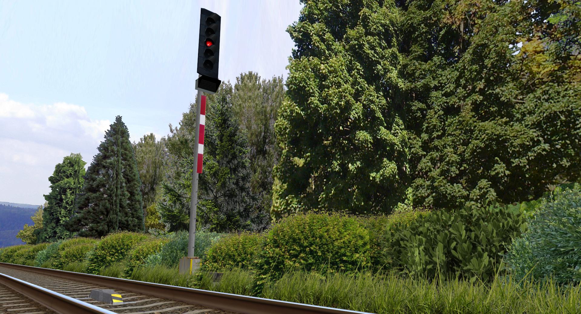 Rosice Railway Vegetace