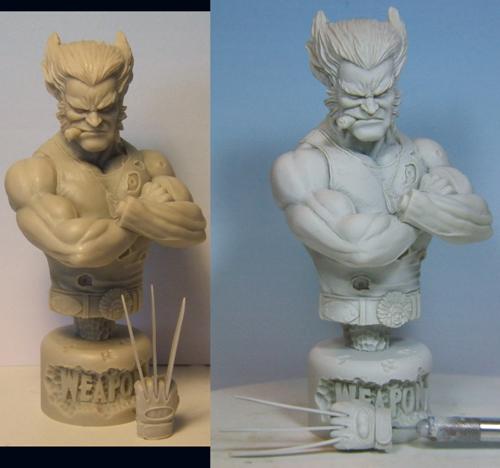 l'atelier de bruno : buste de wolverine Loganweb