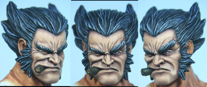 l'atelier de bruno : buste de wolverine Logan7web