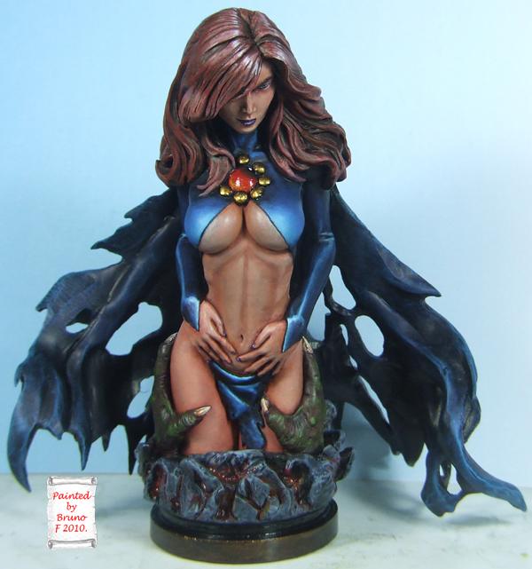 l'atelier de bruno : La Reine Démon sculpté par JIM MADDOX Finalqueen
