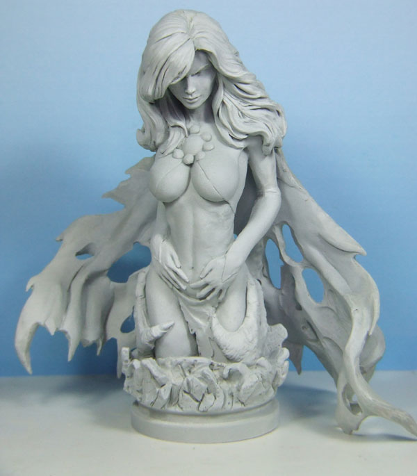 l'atelier de bruno : La Reine Démon sculpté par JIM MADDOX Reinedemon
