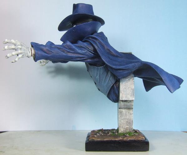 L'atelier de bruno : Le chasseur scultpé par Troy McDevitt Lechasseurprofil1