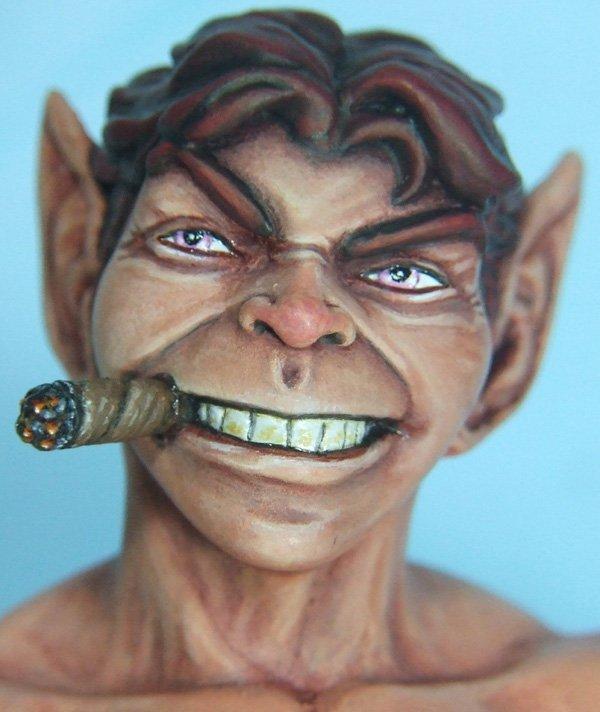 L'atelier de bruno  : Pip le Troll sculpté par Ydol Visagepip