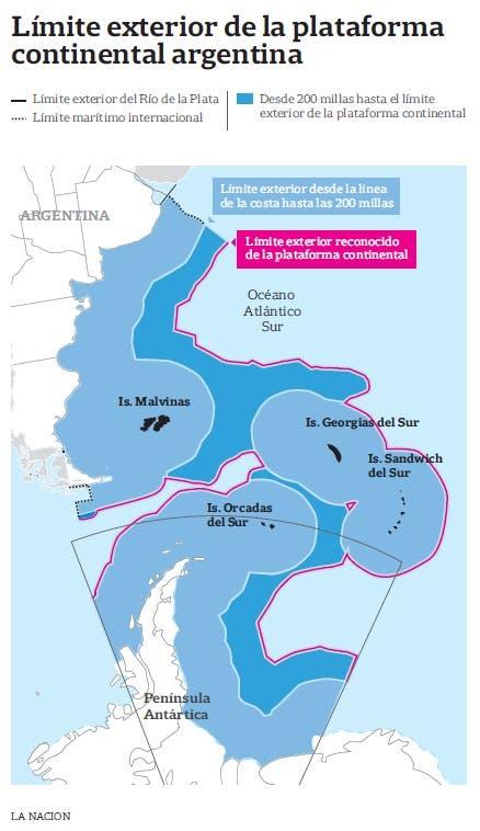 Por un fallo de la ONU, Argentina extiende su plataforma continental 2178544h765