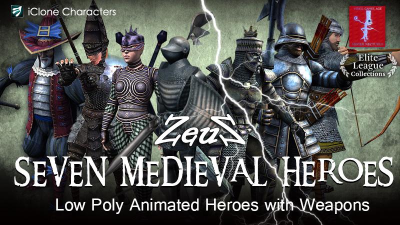 اضافة iClone Combo Pack - Seven Medieval Heroes 1445176337_iclone-combo-pack-seven-medieval-heroes