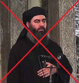 1 legged bandit''baghdadi''makes farewell speech, admits defeat. 5854510eb6a9c