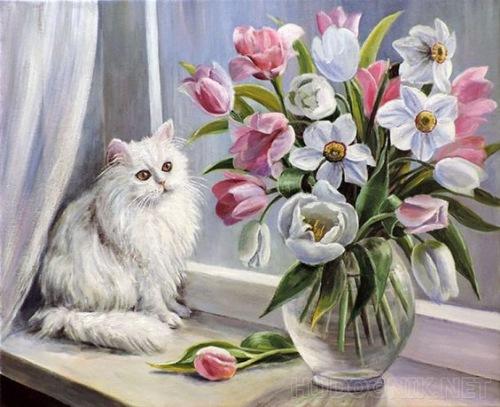 Кошки в живописи 6206e1b827ed