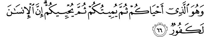 The Pilgrimage  - سورة الحج 22_66