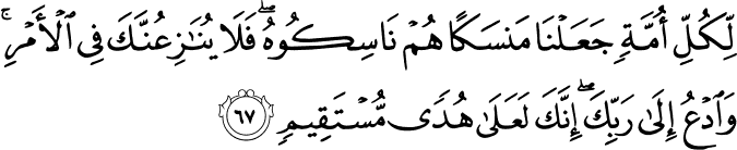 The Pilgrimage  - سورة الحج 22_67