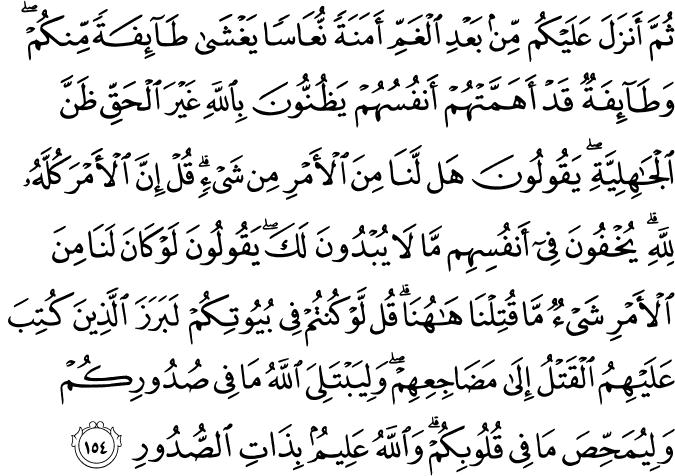 (Family of Imran  - سورة آل عمران 3_154