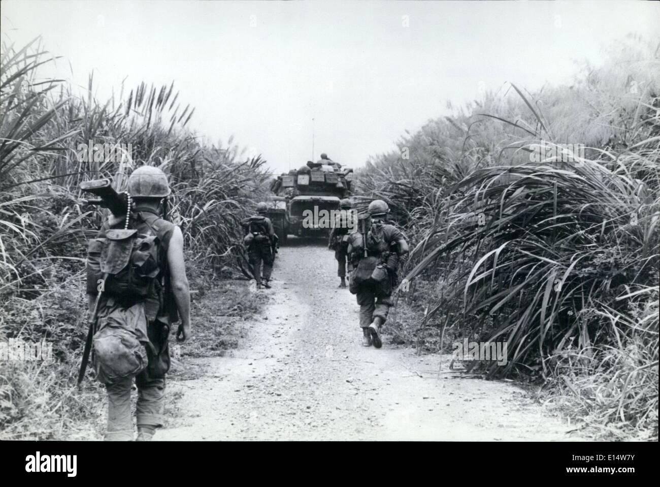 Vietnam War 1954-1975 Apr-18-2012-in-ambush-country-usmarines-follow-an-m-48-tank-along-E14W7Y