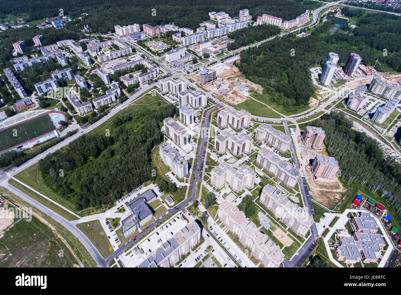 Koltsovo  Novosibirsk-region-russia-june-14-2017-an-aerial-view-of-koltsovo-JC8RFC