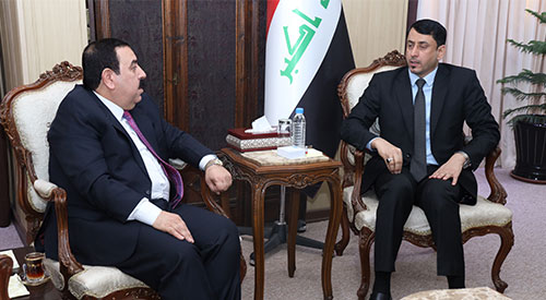 Secretary General of the Cabinet discusses with the Governor of Anbar the progress of reconstruction projects and the road of convoys of pilgrims 2019-07-11-06