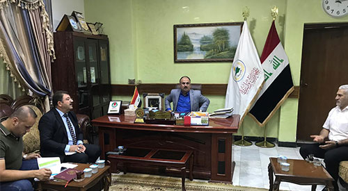 Government Program Follow-up Team meets Wasit Deputy Governor 2019-08-28-01