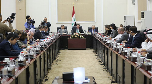 Minister of Planning announces the establishment of two international funds to manage the file of support for reconstruction projects 2019-3-12-2