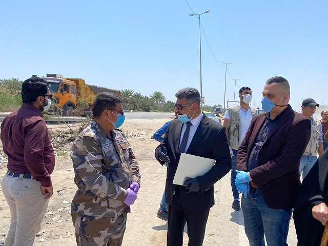 The General Secretariat of the Council of Ministers inspects the mechanisms of action of a number of Baghdad, Babylon and Karbala control 2020-04-22