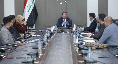 The General Secretariat of the Council of Ministers reviews the draft bylaw for establishing the Institute for Preparing and Qualifying Administrative Leaders 2021-02-24-3