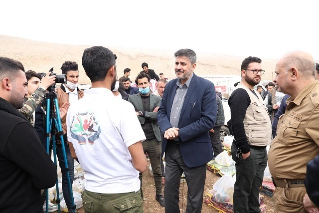 The General Secretariat of the Council of Ministers: distributing more than (2000) relief quota for the displaced (Sardashti) camp in Sinjar Mountain 29-02-2020-01
