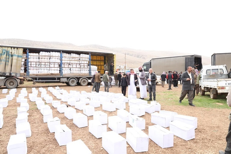 The General Secretariat of the Council of Ministers: distributing more than (2000) relief quota for the displaced (Sardashti) camp in Sinjar Mountain 29-02-2020-02