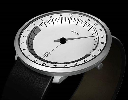 Les Mono-aiguilles: Listing des marques et modèles Botta_uno_24_watch_w_01