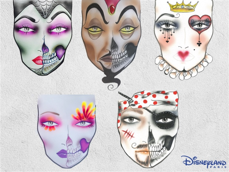 maquillages d'halloween ?  vous avez des photos ?  Lookmaquillagevanessadavisdisneylandparis