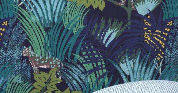 Cuisine & salle Ysabelle * Cuisine le résultat page 6 * reste la déco - Page 4 Papier-peint-tropical-pierre-frey