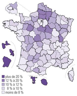 L'illlettrisme en France : des chiffres accablants. Carte_NI_2015_JDC_414786