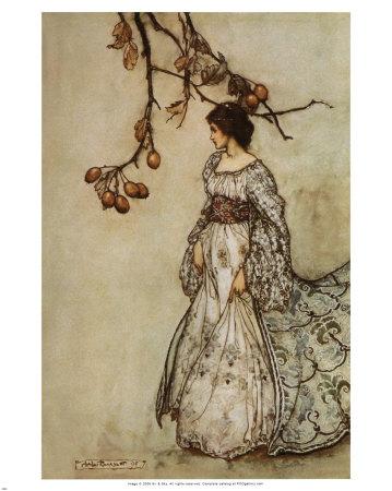 Vos illustrateurs préférés Rackham-arthur-jeune-femme-seule