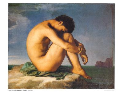 Muskarci na slikarskom platnu Flandrin-hippolyte-young-male-nude-1855