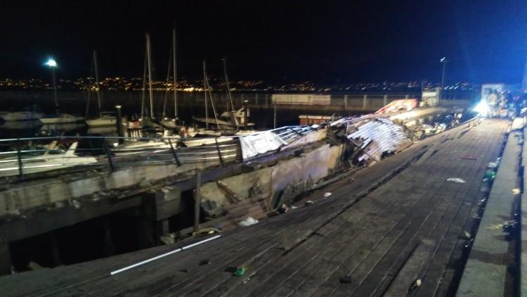 Más de 310 heridos, cinco graves, tras ceder el suelo en O Marisquiño (Vigo), concierto de entrada libre. 1534113751_190872_1534115177_miniatura_normal