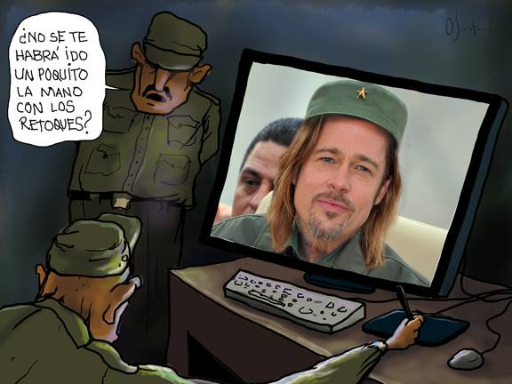 Alterate le foto del Comandante CaricaturaSantana