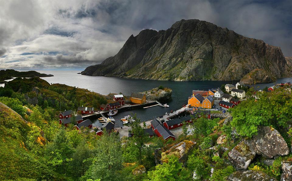 Роскошные пейзажи Норвегии 7small-fishing-village-north-norway