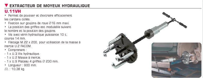 pression de demontge d'un volant moteur Extracteurmoyeuxhydraulique